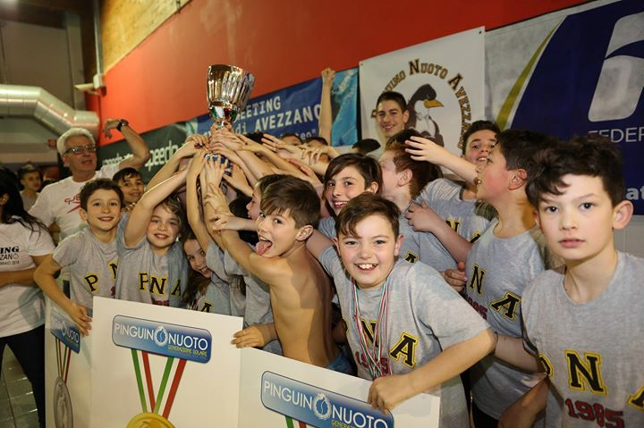 IV meeting città di Avezzano Memorial Cecchino di Matteo. Società vincitrice del Trofeo Pinguino…