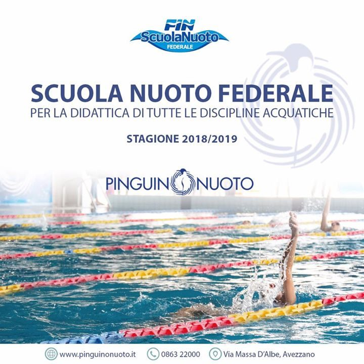 Anche per quest'anno, la Pinguino Village, ha ricevuto la qualifica della Scuola Nuoto Federale…